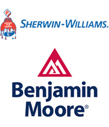 Sherwin-Williams and Benjamin Moore logo